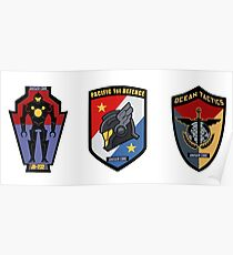 Pacific Defense Core badges Poster