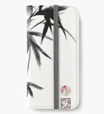 Compassion - Original Zen Spiritual Bamboo painting dedicated to the Dali Lama iPhone Wallet/Case/Skin
