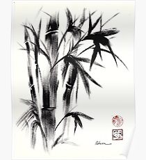 Compassion - Original Zen Spiritual Bamboo painting dedicated to the Dali Lama Poster