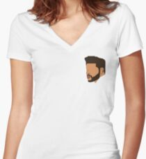 Eyeless Weeknd Women's Fitted V-Neck T-Shirt
