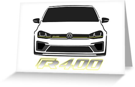 vw golf r400 greeting cards by frazza001 redbubble