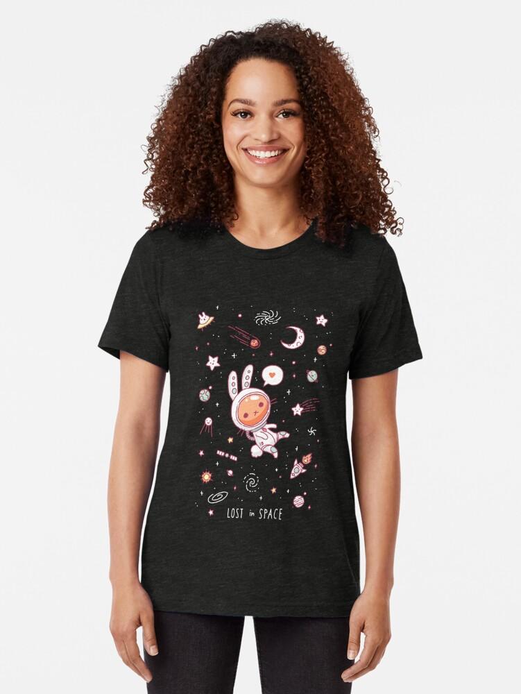 Alternative Ansicht von Im Weltraum verloren Vintage T-Shirt