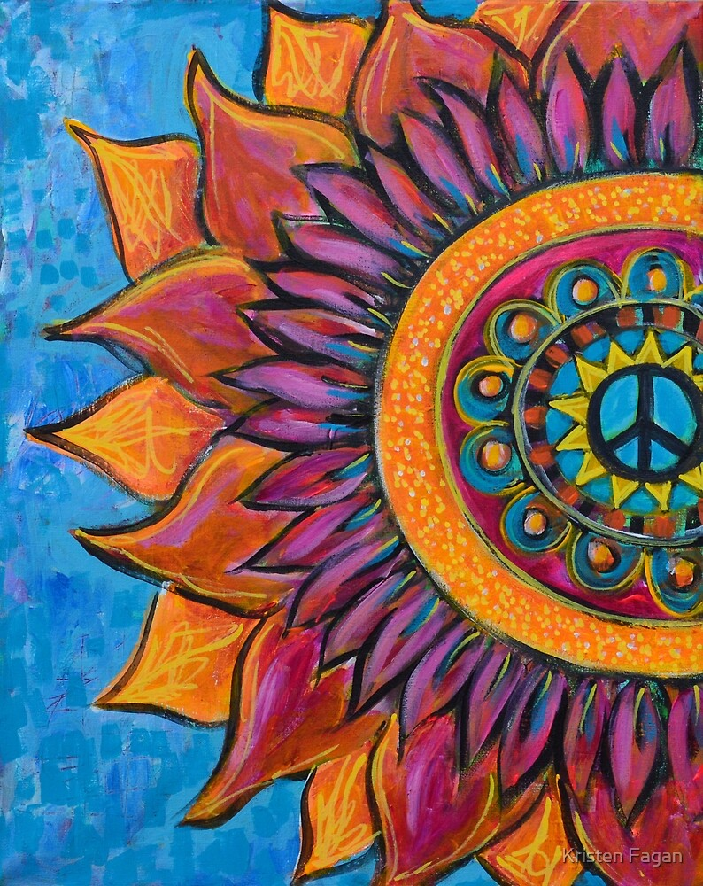 Peace Mandala by Kristen Fagan
