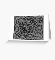 Black & White Sky Greeting Card