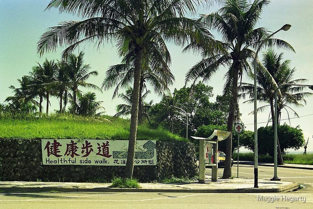 Healthful sidewalk, Taiwan. by Maggie Hegarty