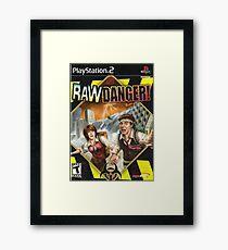 Raw Danger Framed Print