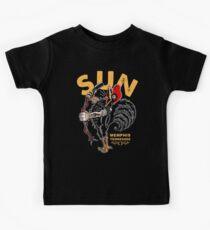 Der singende Hahn der Sonne Kinder T-Shirt
