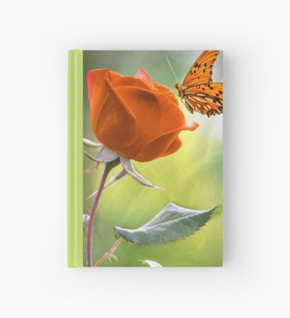 The Flower and the Butterfly Hardcover Journal