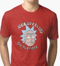 Camiseta de tejido mixto Rick sanchez