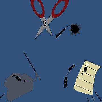 The Showdown: Rock vs Paper vs Scissors by Pathos