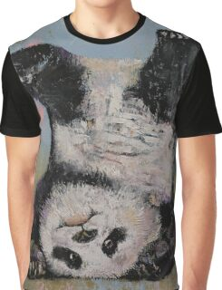 Panda Headstand Graphic T-Shirt