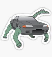 R32 Godzilla Transformer-looking-thing Sticker