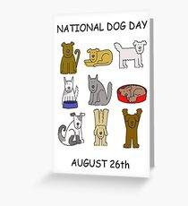 National Dog Day August 26th Greeting Card