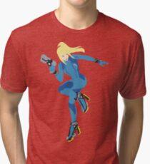 Zero Suit Samus Vector Tri-blend T-Shirt