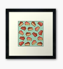 Turquoise Cake Pattern Framed Print