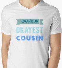 worlds okayest cousin - blue & white T-Shirt