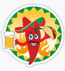 Mexican red chili pepper Sticker
