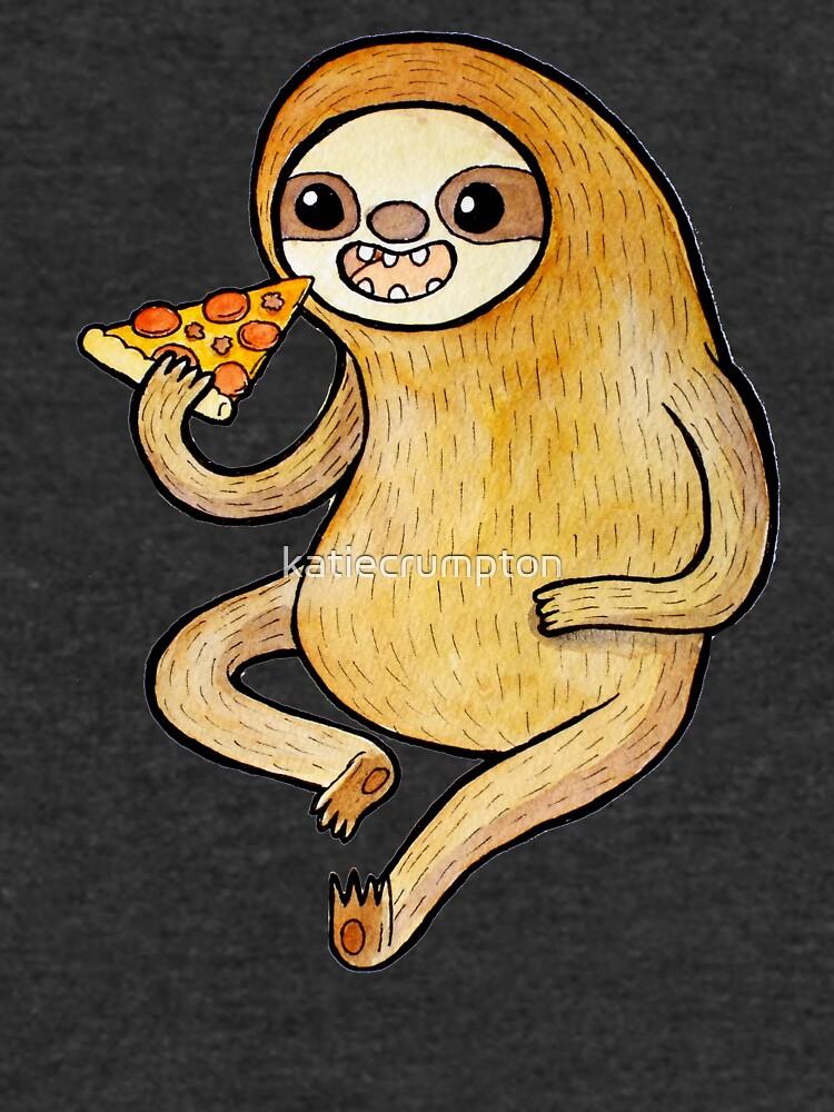 Sloth Eating Pizza by katiecrumpton