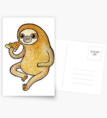 Sloth Eating Pizza Postcards