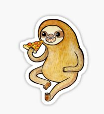 Sloth Eating Pizza Sticker