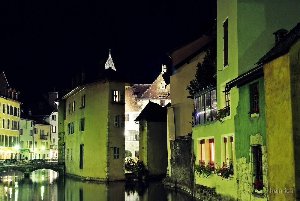 Annecy by night by heinrich