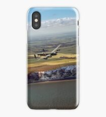 Lancaster over the white cliffs in Kent iPhone Case