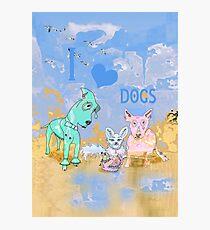 I Love Dogs Photographic Print