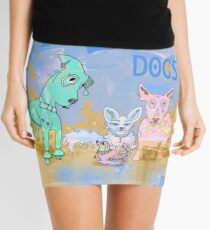I Love Dogs Mini Skirt