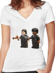 Pulped Friction Women's Fitted V-Neck T-Shirt