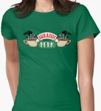 Jurassic Park x Central Perk - Jurassic World/FRIENDS parody Womens Fitted T-Shirt