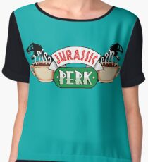 Jurassic Park x Central Perk - Jurassic World/FRIENDS parody Women's Chiffon Top