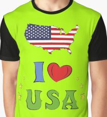 I love the united states of america Graphic T-Shirt