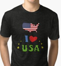 I love the united states of america Tri-blend T-Shirt