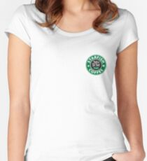 *fish Coffee 2 Women's Fitted Scoop T-Shirt