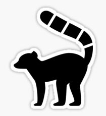 Lemur Silhouette Sticker