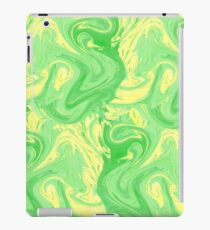 Light green marbled texture design iPad Case/Skin