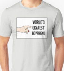 Cool Funny Gift Design For Best Okeyest Boyfriends T-Shirt