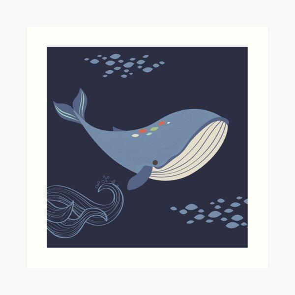 Whales of the Sea Kunstdruck