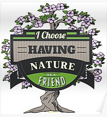 Environmental Awareness Green Earth Nature as Friend Design Poster