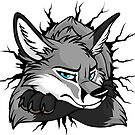 Sticker - STUCK Grey Fox by tanidareal