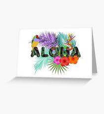 Aloha, Hawaiian Party Greeting Card