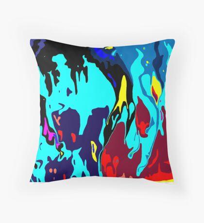 Bathymetric fantasy Throw Pillow