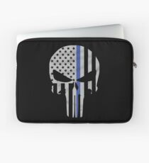 Military Skull [Tactical Flag] Laptop Sleeve
