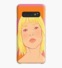 Fashion; Blonde Girl & Stripes Case/Skin for Samsung Galaxy