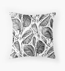 Jungle - Tropical leaves Throw Pillow