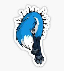 Sticker - STUCK Blue Fox BACK Sticker