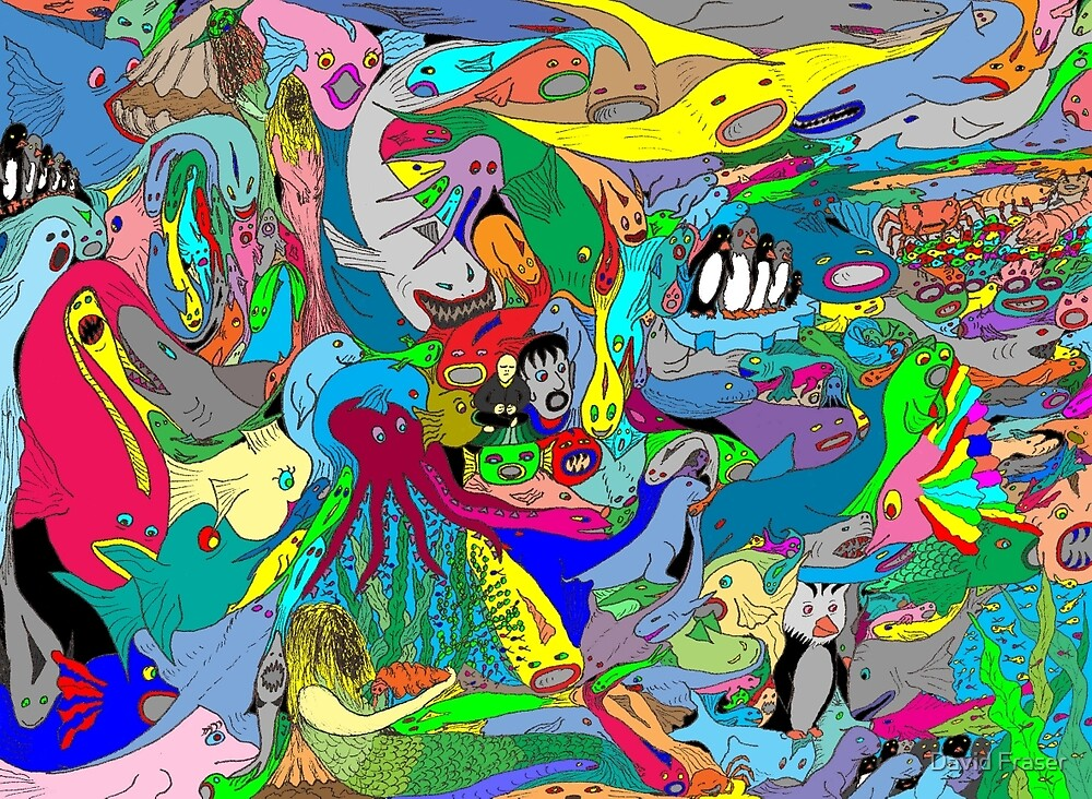 Aquatic life  by David Fraser