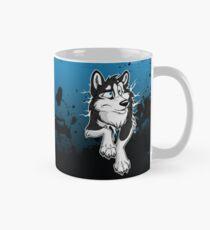 STUCK Husky Black Mug