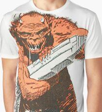 A monster destroying a city vintage comic pop art Graphic T-Shirt