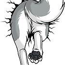 STUCK Husky Grey - BACK by tanidareal